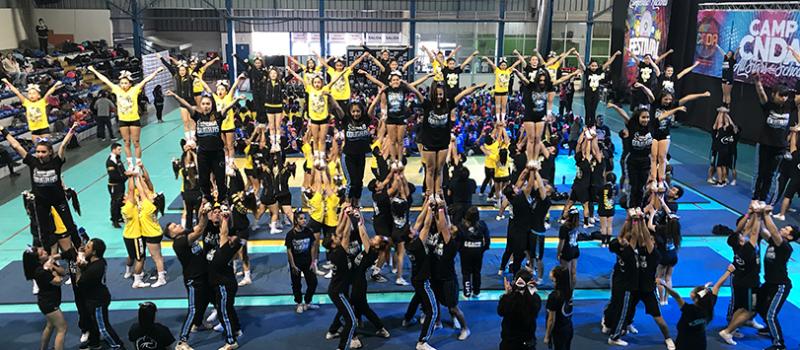Evento Cheerleaders, evento zumba, evento danza, Djs, Pantallas led, iluminación, campamento Cheerleader